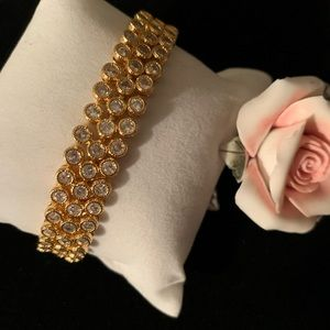 Exquisite White Sapphire Bracelet